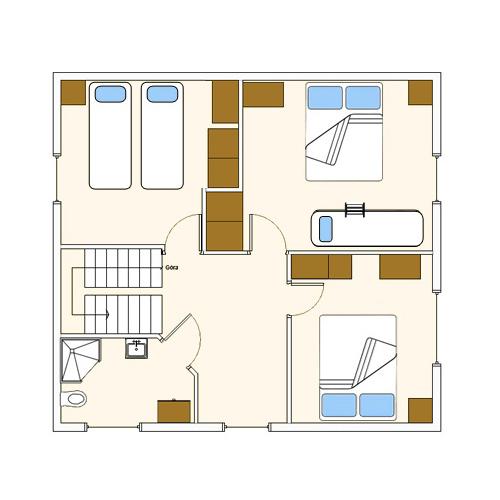 Pobierowo domek Calypso l - schemat domku - piętro