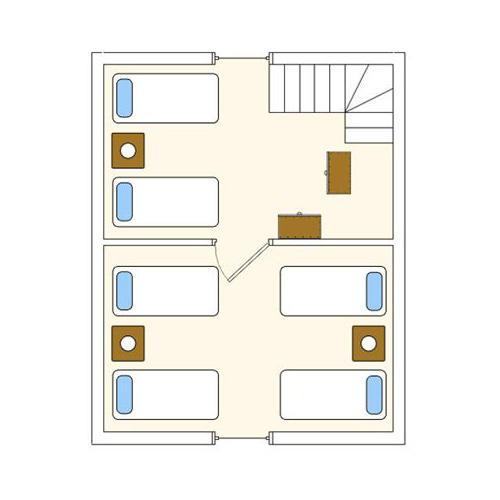 Pobierowo Calypso ll - schemat domku - piętro