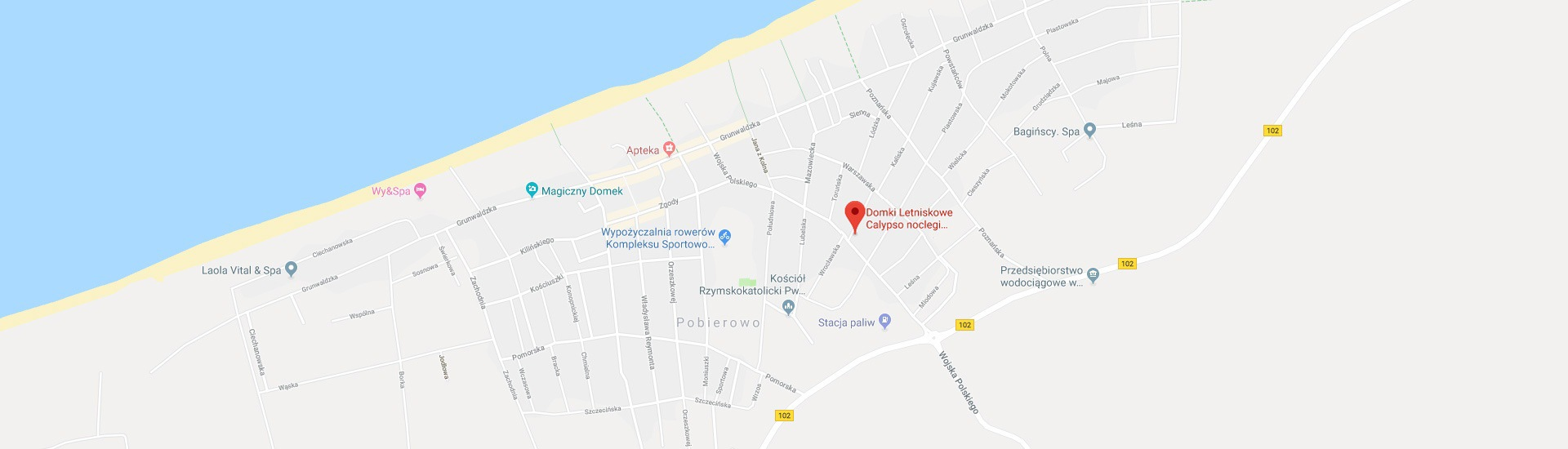 Calypso – lokalizacja naszych domków letniskowych w Pobierowie