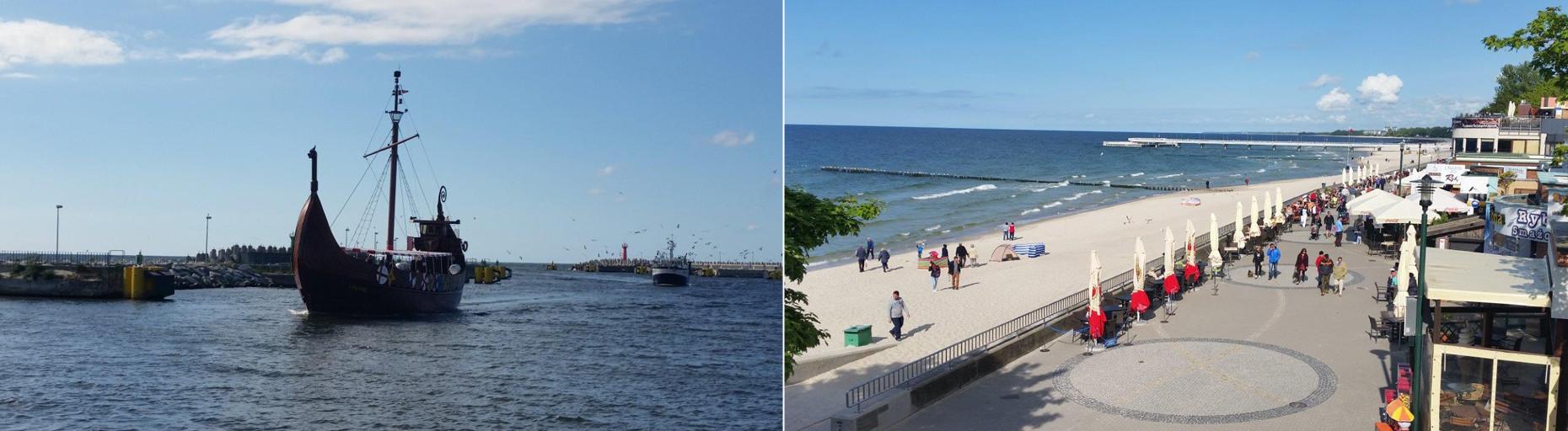 Kołobrzeg port i molo - atrakcje nad morzem - Pobierowo domki